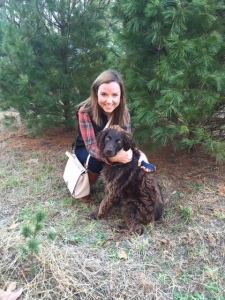 Me and Scout at the Christmas Tree Farm