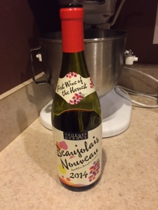 The first wine of the season