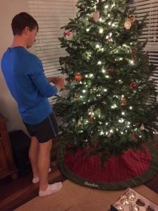 Drew hanging ornaments