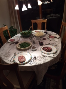 One of the several Christmas dinners--soo delicious!
