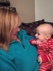 Grandson flirting with his Nana