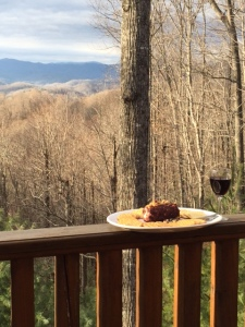 Nothing is better than a gorgeous view, wine and cheese