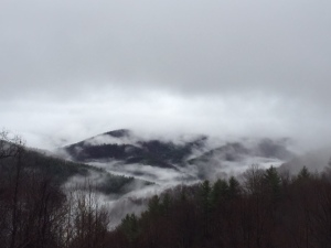 last day--fog over the mountains